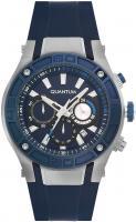 Quantum POWERTECH, Herren Uhr, Armbanduhr silver/blue, 47x53mm, silicone blue