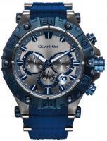 Quantum HUNTER Herren Uhr Analog, Armbanduhr grey/blue, 50x55mm, silicone blue