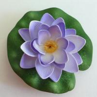 6x Seerose künstliche Blumen Schwimmfähige sehr originalgetreu Flieder/Lila 10 cm