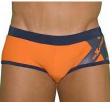 Badehose Badeslip Swimming Trunks ES Collection 907 Orange Push-Up S / 4