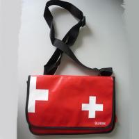 Notebooktasche Kuriertasche Schultertasche Messengerbag Rot 39x25 cm