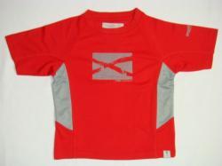 Regatta Impact Microfaser Kinder T-Shirt rot/grau