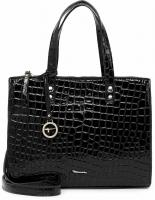 Tamaris Diana Bag 31212 Schwarz Kroko 198 Synthetik Tasche