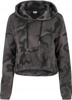 Hoody Urban Classics TB1636 Ladies Camo Cropped Kapuzensweatshirt