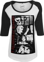 T-Shirt Mister Tee MT442 Ladies 5 Seconds of Summer Stacked Raglan Tee