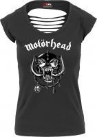 T-Shirt Merchcode MC005 Ladies Motšrhead Logo Cutted Back Tee