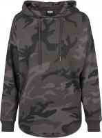 Hoody Urban Classics TB1724 Ladies Oversized Camo Kapuzensweatshirt