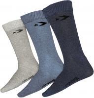 Converse Herren Socken 3-er Pack Basic Men Crew in Denim Navy Grau (mehrfabig)