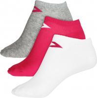 Converse Damen Socken Basic Low Cut 3-er Pack Füßlinge pink grau weiß