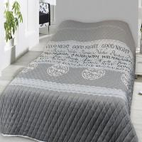 Tagesdecke Bettüberwurf 240x220cm Good Night