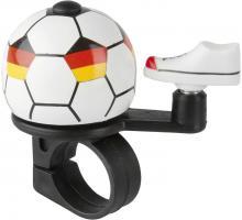 M-Wave Soccer Fahrradklingel Mini Fußball Fahrradhupen Fahrradglocke Deutschland Spanien Griechenland Brasilien