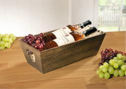 Holzkiste  Herz  braun, Obstkorb, Weinkiste