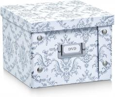 2x Zeller Aufbewahrungsbox mit Deckel  Vintage  weiß, für 26 DVD's