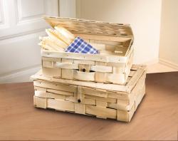 Präsentkoffer  Natur  aus Holzspan, Aufbewahrungsbox