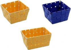 3er WENKO Korb Set ADRIA mini orange + blau Bad Kosmetik Utensilien Aufbewahrung