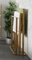 Handtuchhalter aus Bambus, Kleiderständer, Handtuchständer