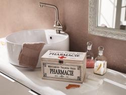 Shabby Holz Kiste  Pharmacie , Erste Hilfe Arznei Medizin Aufbewahrung Schrank