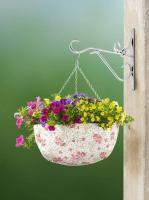 WENKO Blumenampel Ø 36 cm, mit Rosen Dekor, Hängepflanzkorb