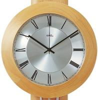 Funk-Wanduhr Pendeluhr Uhr mit Pendel Buche massiv 25 x 60 x 10 cm AMS