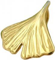 Kettenanhänger gold Ginkgo Anhänger, 12mm Ginkgoblatt 8 Kt GOLD 333