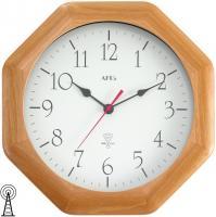 Funk-Wanduhr Uhr Funkuhr achteckig Holz Mineralglas 27 x 27 cm AMS