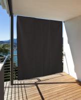 Vertikaler Sonnenschutz Windschutz Sichtschutz Balkon Terrasse anthrazit 230 x 140 cm