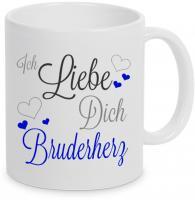 Ich liebe Dich Bruderherz - Tasse