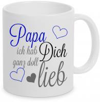 Papa ich hab dich ganz doll lieb - Tasse