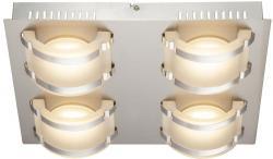 Charmante 20W LED Decken Leuchte Lampe Flur Chrom Glas EEk Globo 41734-4